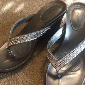 Style & Co jeweled platform sandals